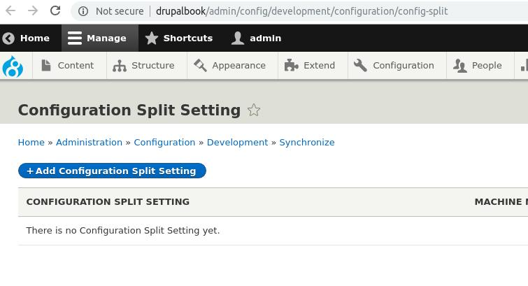 configuation settings
